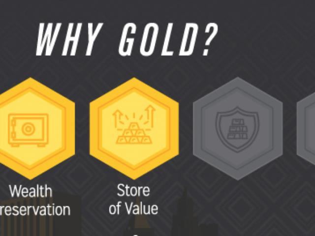 """Infographic """"Waarom kopen Miljonairs Goud"""""""
