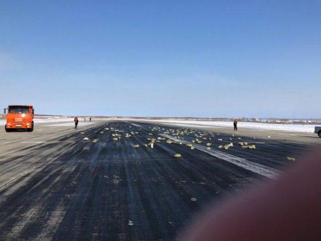 Vliegtuig in Rusland verliest lading goud
